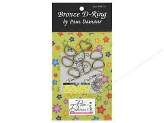 Pam Damour D Rings 1/2 in. Brass 8 pc.