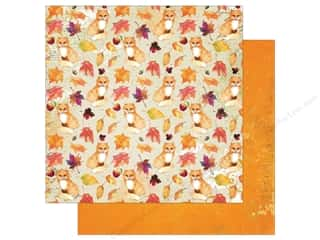 Bo Bunny Dreams Of Autumn Paper 12 in. x 12 in. Foxes (25 pieces)