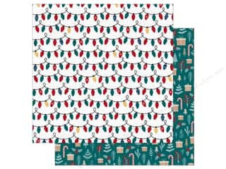 Bo Bunny Collection Fa La La Paper 12 in. x 12 in.  Sparkle (25 pieces)