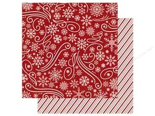 Echo Park A Perfect Christmas Paper 12 in. x 12 in. Snowflake Swirl (25 pieces)