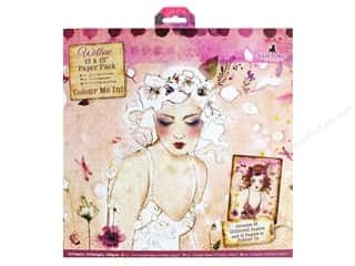scrapbooking & paper crafts: Docrafts Santoro Willow Colour Me In Paper Pack 12 in. x 12 in.  32 pc