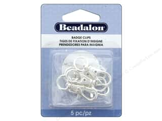 craft & hobbies: Beadalon Findings Badge Clip With Swivel 32 mm Silver Plate 5 pc