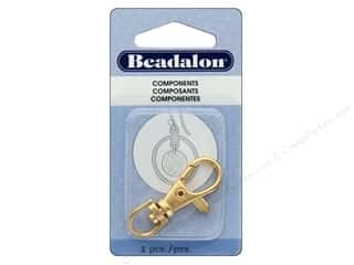 beading & jewelry making supplies: Beadalon Findings Badge Clip With Swivel 38 mm Gold Plate 1 pc