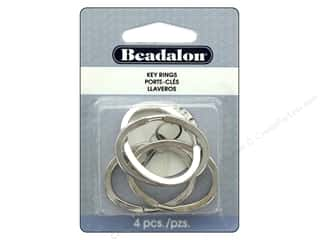 craft & hobbies: Beadalon Findings Key Ring Oval 37 mm x 28 mm Silver Color 4pc