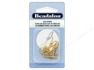 Beadalon Ear Wires Ball 1.5 mm Gold Plate 10 pc