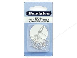 Beadalon Ear Wires Ball 1.5 mm Silver Plate 12 pc
