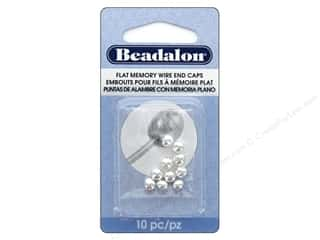 Beadalon Memory Wire End Cap Silver Plated 10 pc