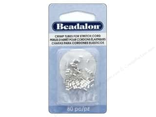 craft & hobbies: Beadalon Crimp Tubes for Stretch Cord 0.5 mm Silver Plated 80 pc.