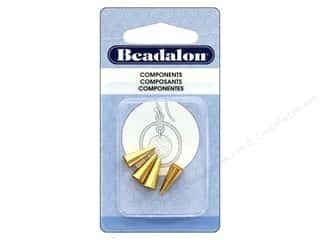 beading & jewelry making supplies: Beadalon Cone 12.2 mm Gold Plate 4 pc