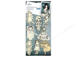 scrapbooking & paper crafts: Docrafts Santoro Gorjuss Color Me In Wood Characters 8 pc