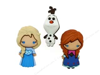 craft & hobbies: Jesse James Embellishments - Disney Elsa, Anna & Olaf