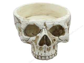 decorative floral: Midwest Design Skull Container 11 in.