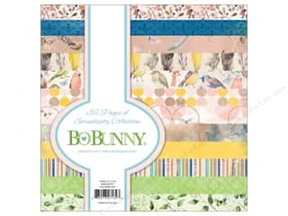 scrapbooking & paper crafts: Bo Bunny Collection Serendipity Paper Pad 6 in. x 6 in.