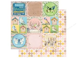 Bo Bunny Collection Serendipity Paper 12 in. x 12 in.  Greetings (25 pieces)
