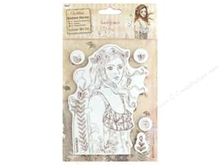 stamps: Docrafts Santoro Willow Color Me In Stamp Le Message