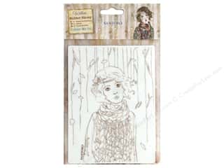 stamps: Docrafts Santoro Willow Color Me In Stamp Souvenir D'Hiver