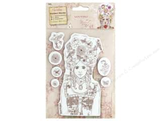 stamps: Docrafts Santoro Willow Color Me In Stamp Marie-Antoinette