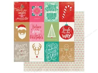 Clearance: Authentique Collection Colorful Christmas Paper 12 in. x 12 in. Eight (25 pieces)