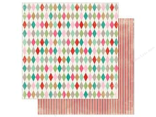Authentique Collection Colorful Christmas Paper 12 in. x 12 in. Two (25 pieces)