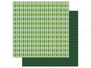 Clearance: Pebbles Merry Merry Paper  12 in. x 12 in.  Fresh Cut Pines (25 pieces)