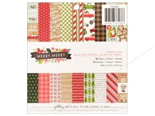 Pebbles Merry Merry Paper Pad 6 in. x 6 in.