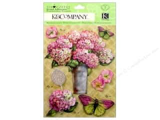 3-d adhesive: K&Company Grand Adhesions Tim Coffey Foliage Floral