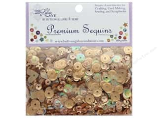 beading & jewelry making supplies: Buttons Galore 28 Lilac Lane Premium Sequins Metallic Mix