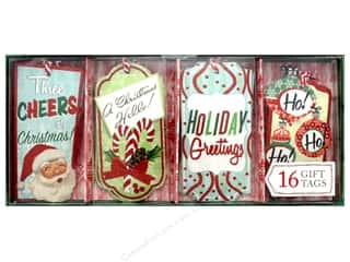 Gifts & Giftwrap: Molly & Rex Gift Tags Holiday Retro 16 pc