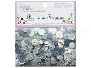 beading & jewelry making supplies: Buttons Galore 28 Lilac Lane Premium Sequins Silver Linings
