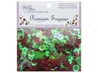 Clearance: Buttons Galore 28 Lilac Lane Premium Sequins Holiday Wreath