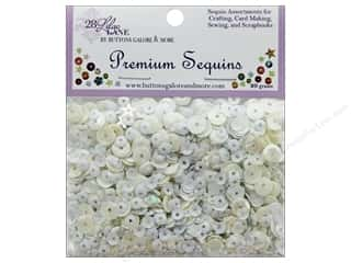 beading & jewelry making supplies: Buttons Galore 28 Lilac Lane Premium Sequins Winter Whites
