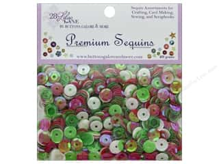Buttons Galore 28 Lilac Lane Premium Sequins Holly Jolly