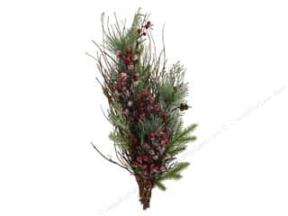 Darice Christmas Teardrop 24 in. Snowberry Red
