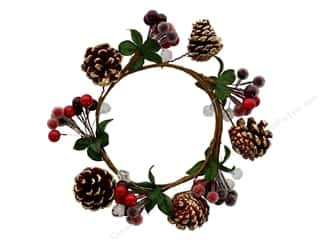 Darice Christmas Candle Ring 4.5 in. Berry Red