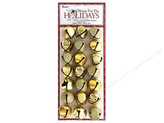 Darice Holiday Jingle Bells With Hanger Gold 21 pc