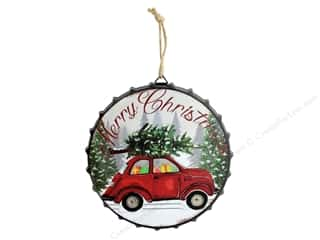 novelties: Darice Wall Plaque Car With Tree