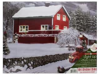 Darice Light Up Canvas 16 in. x 12 in. Snow Barn