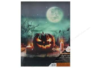 Novelties: Darice Light Up Canvas 12 in. x 16 in.Jack o Lantern Moon