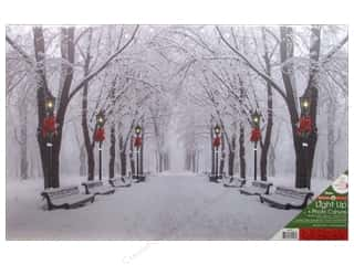 novelties: Darice Light Up Canvas 16 in. x 24 in. Snowy Path