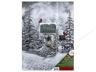 novelties: Darice Light Up Canvas 12 in. x 16 in. Christmas Greetings