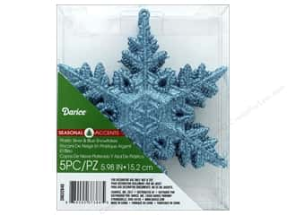 novelties: Darice Ornament Snowflake 5 pc
