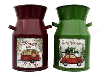 Darice Christmas Bucket Assorted Red Green