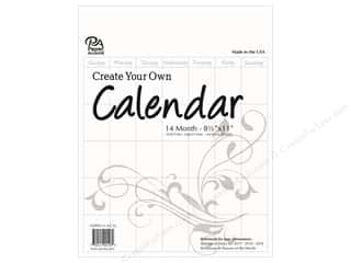 books & patterns: Paper Accents Calendar Create Your Own 8 1/2 x 11 in. 14 Month Blank White