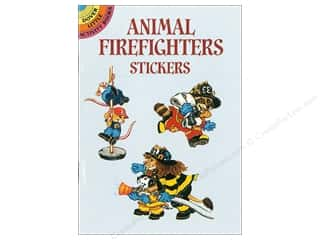 Dover Publications Little Animal Firefighters Stickers Book