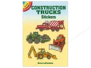 Dover Publications Little Construction Trucks Stickers Book