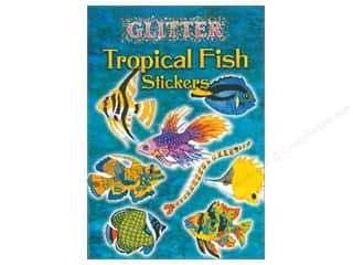 Dover Publications Little Glitter Tropical Fish Stickers Book