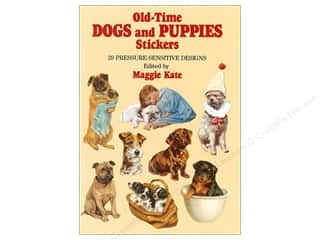 books & patterns: Dover Publications Little Old Time Dogs and Puppies Stickers Book