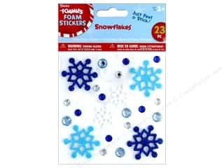 stickers: Darice Foamies Sticker Snowflakes