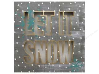 Darice Decor Plaque Light up LED Let It Snow