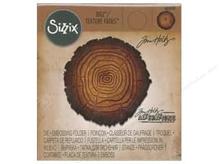 embossing machine: Sizzix Die & Emboss Folder Tim Holtz Bigz/Texture Fades Tree Rings